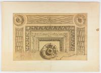 [United States Supreme Court Building presentation drawing, depicting detail of a panel in the conference room, Cass Gilbert, architect, circa 1933-1935].