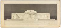 Preliminary study for the Supreme Court, Cass Gilbert, architect, November, 1926.