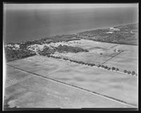 Aerial view facing north of William Carey Camp, Jamesport, New York.