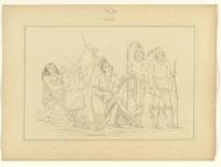 Osage (woman, infant, and three men) : Plate 52.
