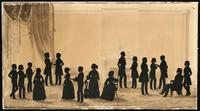 Dr. John C. Cheesman (1788-1862) and family with guests : silhouette.