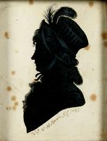 Silhouette of an unidentified woman.