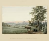 Sunrise : Flatbush and the ocean from the Green-Wood Cemetery, Long Island [Brooklyn], New York.