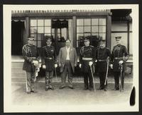 William Howard Taft with unidentified Army officers, (Philippines?), undated [circa 1905].