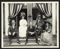 William Howard Taft and unidentified companions, undated [circa 1905].