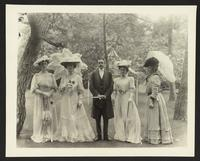 Unidentified man and four women, undated [circa 1900-1910].
