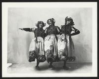 Unidentified actresses in dirndls, undated [circa 1900-1910].