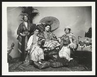 Unidentified actresses in exotic dress, undated [circa 1900-1910].