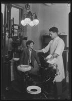 """Angelo"" in the dental clinic at Tompkins Square Building [i.e. Harriman Clubhouse], Lower East Side, New York City."