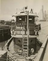 New Rochelle tugboat at pier in Brooklyn.