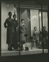 Women's clothing store show-window, 34th Street, New York City.