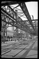 Fulton Street El, Brooklyn, between Jay and Pearl Streets, June 21, 1941. Cutting in preparation for removal on June 23rd.