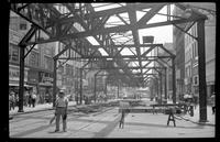 Fulton Street El, Brooklyn, June 21, 1941. View looking east from Red Hook Lane.