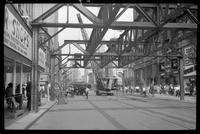 Fulton Street El, Brooklyn, at Duffield Street, June 23, 1941.