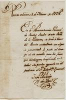 Certification from Jose Antonio de Hoa of New Orleans, dated February 3, 1798.