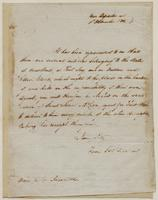 Copy of a letter from Ebenezer Stevens [?]  to George Ingersoll, dated November [?] 1, 1802.