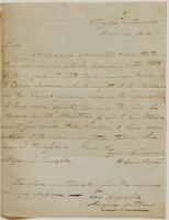 Copy of a letter from Henry Dearborn to George Ingersoll, dated November 1, 1802.