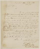 Copy of a letter from Nicholas Gray to Ebenezer Stevens, dated January 6, 1814.