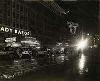 Astor and Gaiety Theatres on Broadway at 45th Street, New York City.