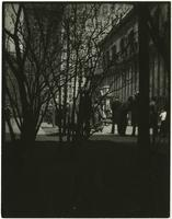 """Lunch hour in New York"" [men in Bryant Park behind New York Public Library main branch]."