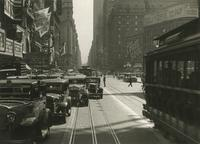 View of Times Square looking south from 47th Street near Palace Theater.