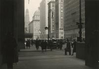 View of Park Avenue looking north from New York Central Building at 46th Street toward Ritz Tower.