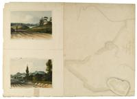 A Plan of the Fortifications at McGowan's Pass [and two untitled views].