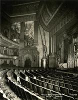 View from orchestra seating inside Beacon Theater at 2124 Broadway, New York City.
