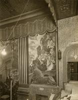 Mural and wall decoration inside Beacon Theater at 2124 Broadway, New York City.
