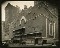 Back view of Beacon Theatre from Amsterdam Avenue and 75th Street, New York City.