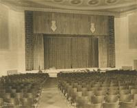 Orchestra seating and stage of Carlton Theatre, 292 Flatbush Avenue, Brooklyn, New York.
