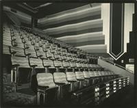 Balcony seating inside the Earl Carroll Theatre, 753 Seventh Avenue, New York City.