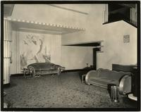 Lounge inside the Earl Carroll Theatre, 753 Seventh Avenue, New York City.