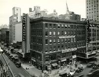 Exterior view of Earl Carroll Theatre at 50th Street and Seventh Avenue, New York City.