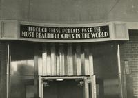 Sign above Earl Carroll Theatre entrance, 753 Seventh Avenue, New York City.