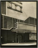 Earl Carroll Theatre marquee and entrance, 753 Seventh Avenue, New York City.