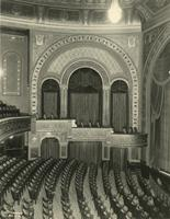 View of box and orchestra seating inside Forrest Theatre [i.e. Eugene O'Neill Theatre], 230 West 49th Street, New York City.