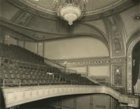 Balcony seating inside Embassy Theatre, Port Chester, New York.