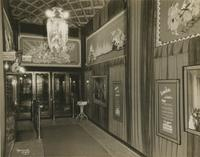 George M. Cohan Theatre lobby, Broadway and 43rd Street, New York City.