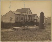 Block No. 1683, 149th Street, Bronx, N.Y.: Alois Koehler property, No. 448, Ward 24; Heinrich Schuman [?] property, No. 450, Ward 25; Frederick Brusius, no. 444, Ward 23; Patrick Burke property, no. 440, Ward 21.
