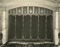 View of stage inside Jolson's Theatre, Seventh Avenue between 58th and 59th Streets.