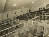 Seating inside Jolson's Theatre, Seventh Avenue between 58th and 59th Streets.