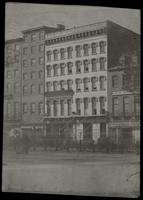 Bixby's Hotel, Northwest corner of Broadway & Park Place, showing W. & J. Sloane's. [239-245 Broadway]. Copy one.