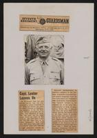 """Capt. Lester leaves us"", Seventh Regiment Guardsman, 1945."