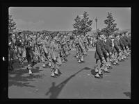 [7th Regt. N.Y.G., Decoration Day?] : Row of unidentified soldiers marching. Circa 1939.