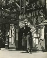 Exterior of Salon des Arts burlesque theater at 52nd Street and Broadway, New York City.