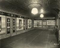 Sam H. Harris Theatre lobby with The Singing Fool posters, 42nd Street and Broadway, New York City.