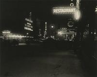"""Broadway on a Winter Night"" [looking south from 51st Street, New York City]."