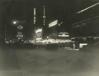 Broadway in Winter, [looking north at Broadway and 44th Street].