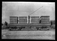 Kings County Railroad, Brooklyn Rapid Transit, surface ash flat car 186, January 27, 1940. Built by Baltimore Steel in 1904.